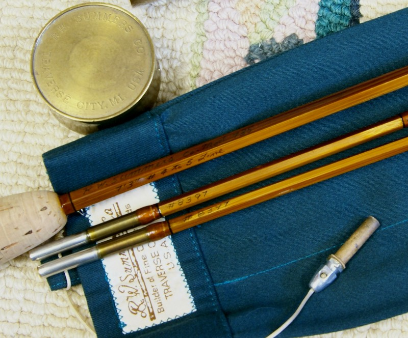 Vintage R.W. Summers Fly Rod, J.D. Wagner, Agent