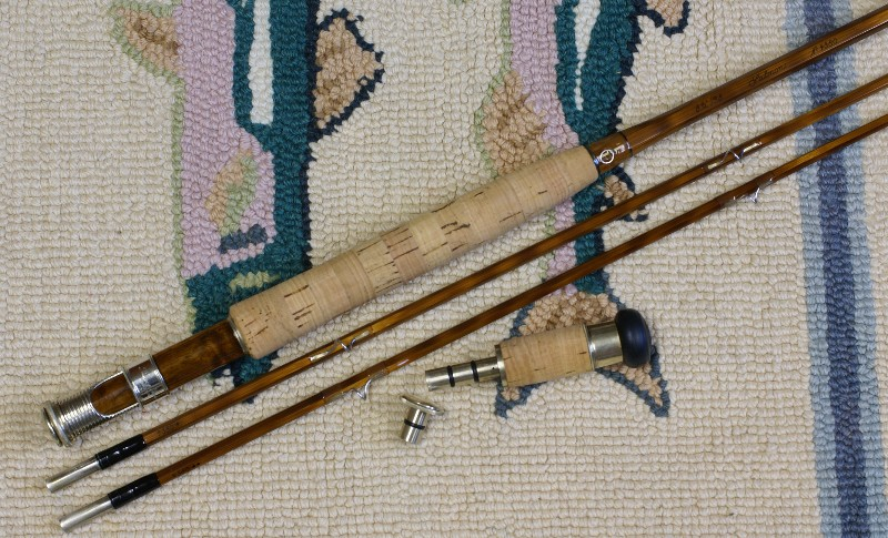 Vintage Thomas and Thomas Salmon Rod, J.D. Wagner, Agent